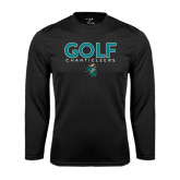 Syntrel Performance Black Longsleeve Shirt-Golf Design