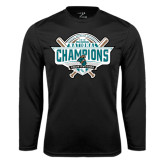 Syntrel Performance Black Longsleeve Shirt-2016 NCAA Baseball National Champions