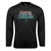 Syntrel Performance Black Longsleeve Shirt-Coastal Carolina Stacked