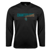 Syntrel Performance Black Longsleeve Shirt-Chanticleers Two Tone