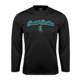 Syntrel Performance Black Longsleeve Shirt-Coastal Carolina Arched