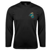 Syntrel Performance Black Longsleeve Shirt-Chanticleer Head