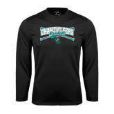 Syntrel Performance Black Longsleeve Shirt-Baseball Crossed Bats Design