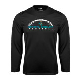 Syntrel Performance Black Longsleeve Shirt-Arched Football Design