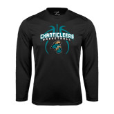 Syntrel Performance Black Longsleeve Shirt-Basketball in Ball Design