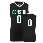 Replica Black Adult Basketball Jersey-#0