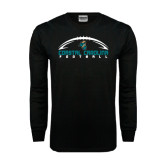 Black Long Sleeve TShirt-Arched Football Design