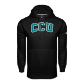 Under Armour Black Performance Sweats Team Hoodie-Arched CCU