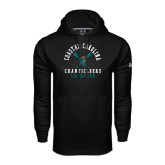 Under Armour Black Performance Sweats Team Hoodie-Lacrosse Crossed Sticks Design