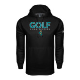 Under Armour Black Performance Sweats Team Hoodie-Golf Design