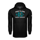 Under Armour Black Performance Sweats Team Hoodie-Cross Country Design