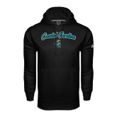 Under Armour Black Performance Sweats Team Hoodie-Coastal Carolina Arched