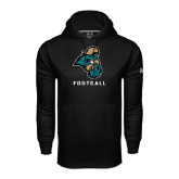 Under Armour Black Performance Sweats Team Hood-Football