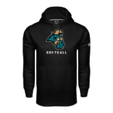 Under Armour Black Performance Sweats Team Hoodie-Softball