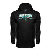 Under Armour Black Performance Sweats Team Hoodie-Baseball Crossed Bats Design