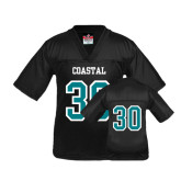 Youth Replica Black Football Jersey-#30