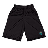 Midcourt Performance Black 9 Inch Game Short-Chanticleer Head