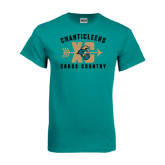 Teal T Shirt-Cross Country Design