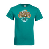Teal T Shirt-Big South Basketball Champions 2015
