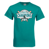 Teal T Shirt-2016 NCAA Baseball National Champions