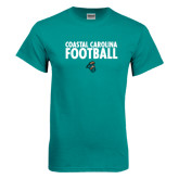 Teal T Shirt-Football Stacked