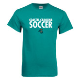 Teal T Shirt-Soccer Stacked