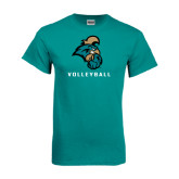 Teal T Shirt-Volleyball
