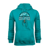 Champion Teal Fleece Hood-2014 Mens Basketball Champions