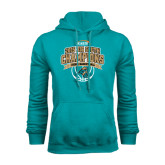 Russell DriPower Teal Fleece Hoodie-Big South Basketball Champions 2015