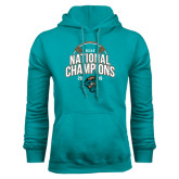 Teal Fleece Hood-2016 NCAA College World Series Baseball Champions