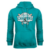 Teal Fleece Hood-2016 NCAA Baseball National Champions