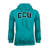 Champion Teal Fleece Hood-Arched CCU