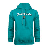 Russell DriPower Teal Fleece Hoodie-Coastal Carolina Arched