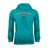 Champion Teal Fleece Hood-Coastal Carolina Chanticleers Arched