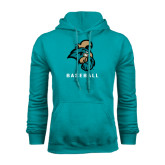 Champion Teal Fleece Hood-Baseball