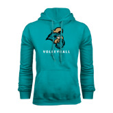Champion Teal Fleece Hood-Volleyball