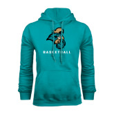 Champion Teal Fleece Hood-Basketball