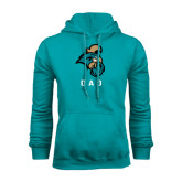 Champion Teal Fleece Hood-Dad
