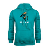 Champion Teal Fleece Hood-Alumni