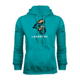 Champion Teal Fleece Hood-Lacrosse