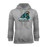 Champion Grey Fleece Hood-Official Logo