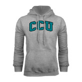 Champion Grey Fleece Hood-Arched CCU