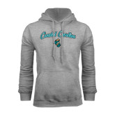 Champion Grey Fleece Hood-Coastal Carolina Arched