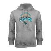 Champion Grey Fleece Hood-2014 Mens Basketball Champions