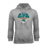 Grey Fleece Hoodie-Big South Basketball Champions 2015