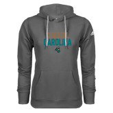 Adidas Climawarm Charcoal Team Issue Hoodie-Coastal Carolina Stacked