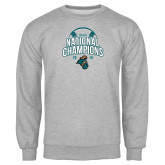 Grey Fleece Crew-2016 NCAA College World Series Baseball Champions