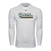 Under Armour White Long Sleeve Tech Tee-Coastal Carolina Chanticleers