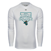 Under Armour White Long Sleeve Tech Tee-2016 NCAA National Champions Baseball