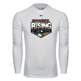Under Armour White Long Sleeve Tech Tee-Coastal Rising - Sun Belt Conference